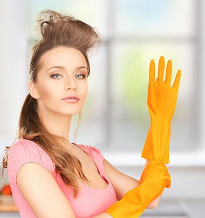 Let a professional to clean your new house.