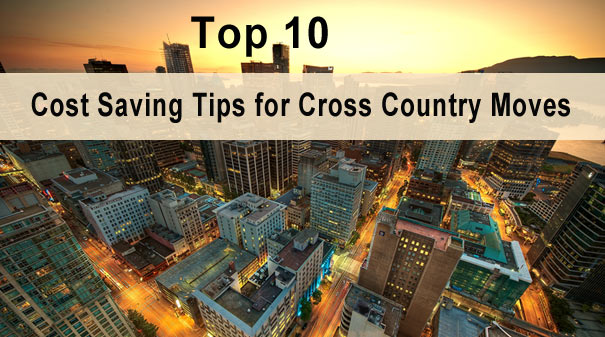 Cost saving tips for cross country move