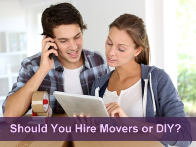 Deciding between Hiring Movers or Do It Yourself