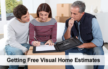 Getting In-home Visual Moving Estimates