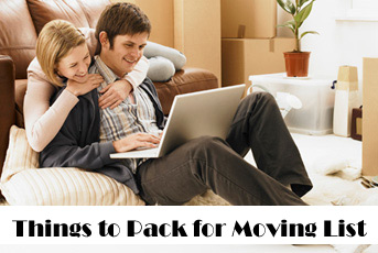 What to Pack when Moving List