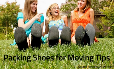 Pack shoes for moving