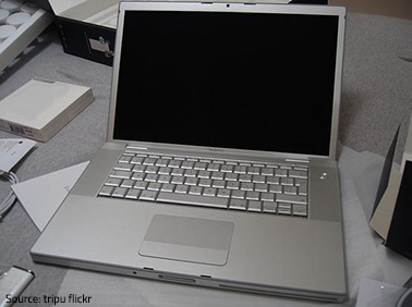 Moving a laptop