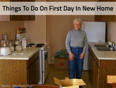 Moving: Things To Do On Your First Day In Your New Home