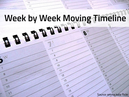 Moving Timeline Checklist Week by Week