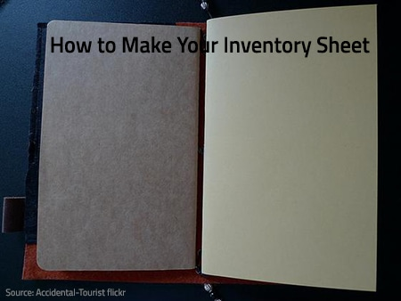 Making an inventory sheet