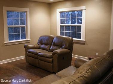 Moving through large furniture