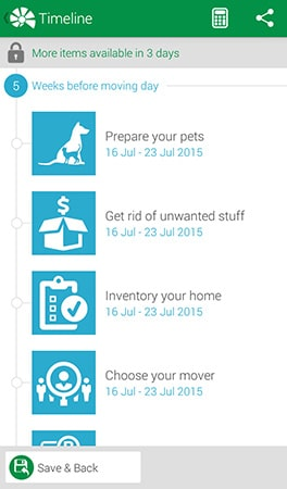 Moving Timeline by Move Advisor