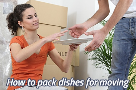 How to pack plates for moving