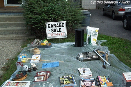 Organize a garage sale before moving out