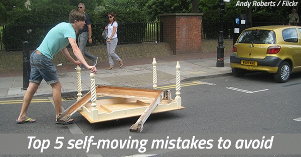 Moving Yourself Is Tricky! Top 5 Self-Moving Mistakes To Avoid