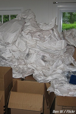 Get rid of packing materials