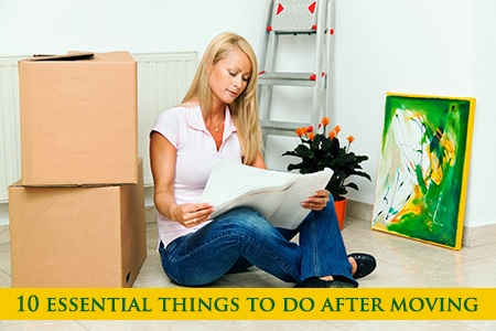 Things to do when moving to a new home