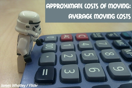 Approximate costs of moving house