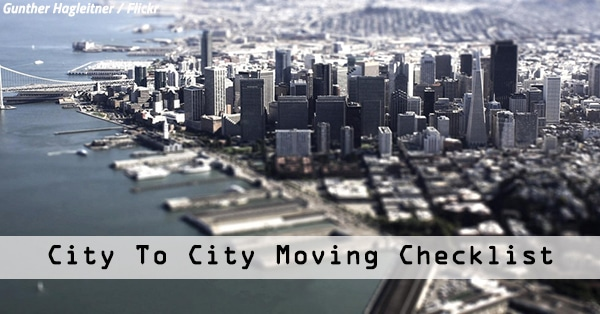 City To City Movers: City To City Moving Checklist