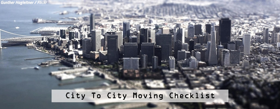 City to city moving checklist