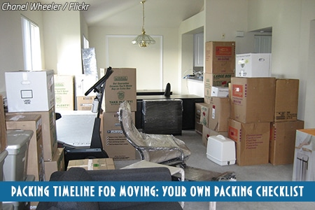 Packing order when moving house