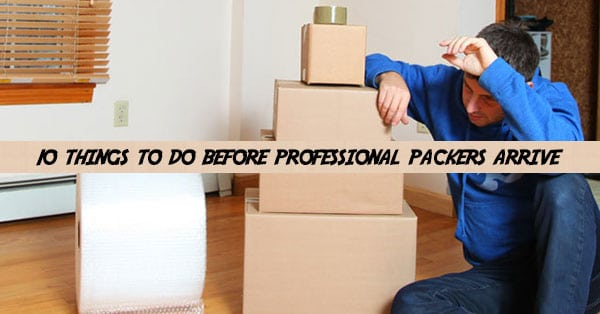 How to prepare for professional movers and packers