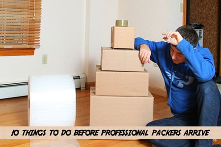 What to do before movers come to pack