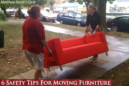 Safety tips for moving furniture