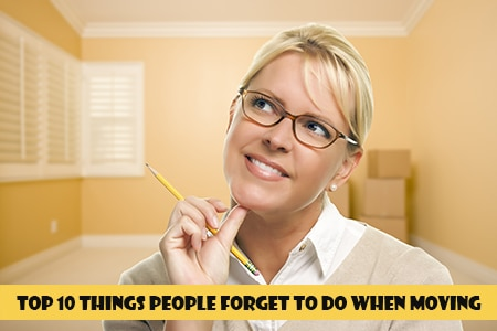 What not to forget to do when moving house