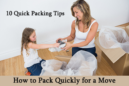 How to pack fast when moving house