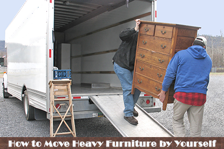 How to move heavy furniture by yourself