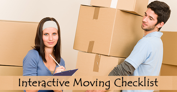 Moving Checklist: Interactive & Printable Moving Checklist