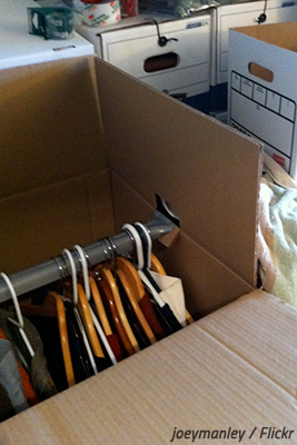 How to pack expensive clothes in wardrobe boxes