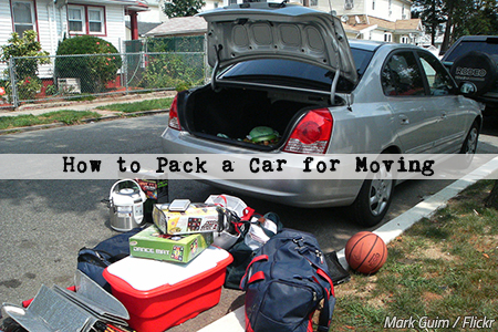 How to pack a car when moving home
