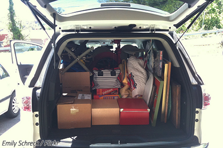 How to pack a car for a road trip