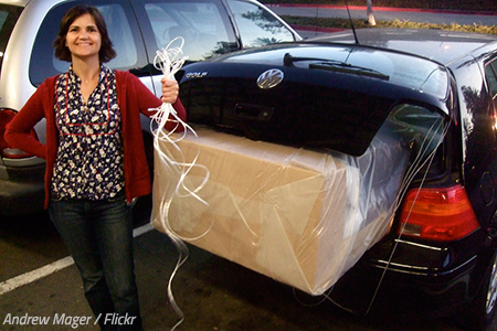 How to pack a car for a cross country move