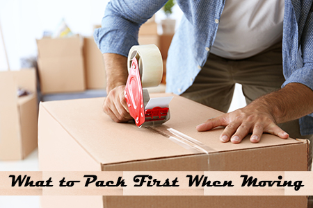 What things to pack first when moving