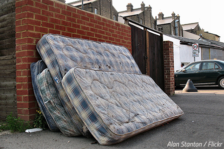 How to dispose of a mattress before moving