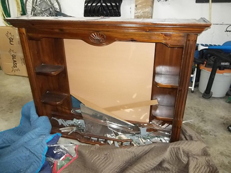 Furniture damaged by movers