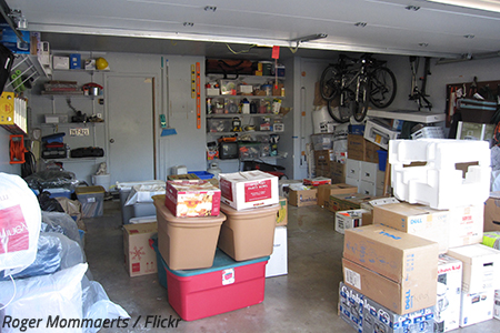 Packing a garage for moving