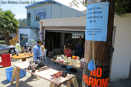 Organize a garage sale before moving