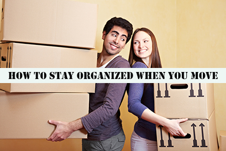 How to get organized for a move
