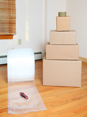 Packing materials for packing heavy items when moving