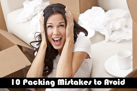 Mistakes when packing for a move