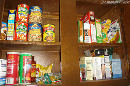 What to do with leftover food when moving