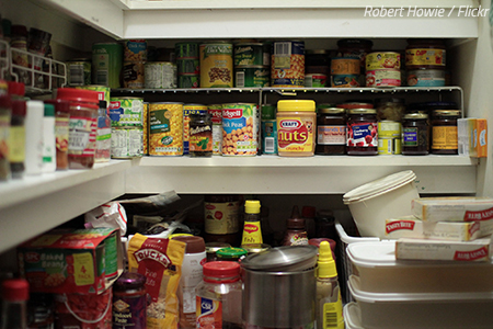 What to do with your food supply when moving