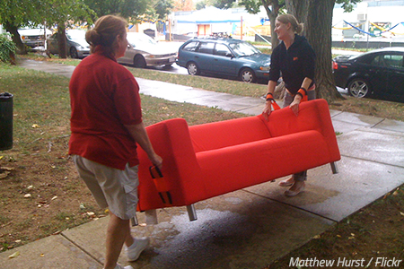 Safety tips when moving furniture
