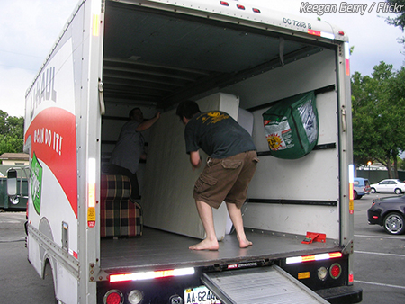 Help loading moving truck